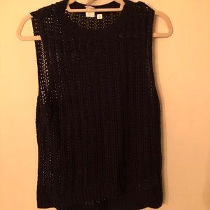 Open Knit Sweater Tank